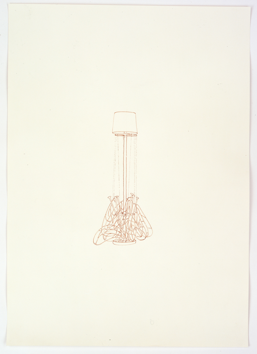 Untitled (light fixtures and wings)
