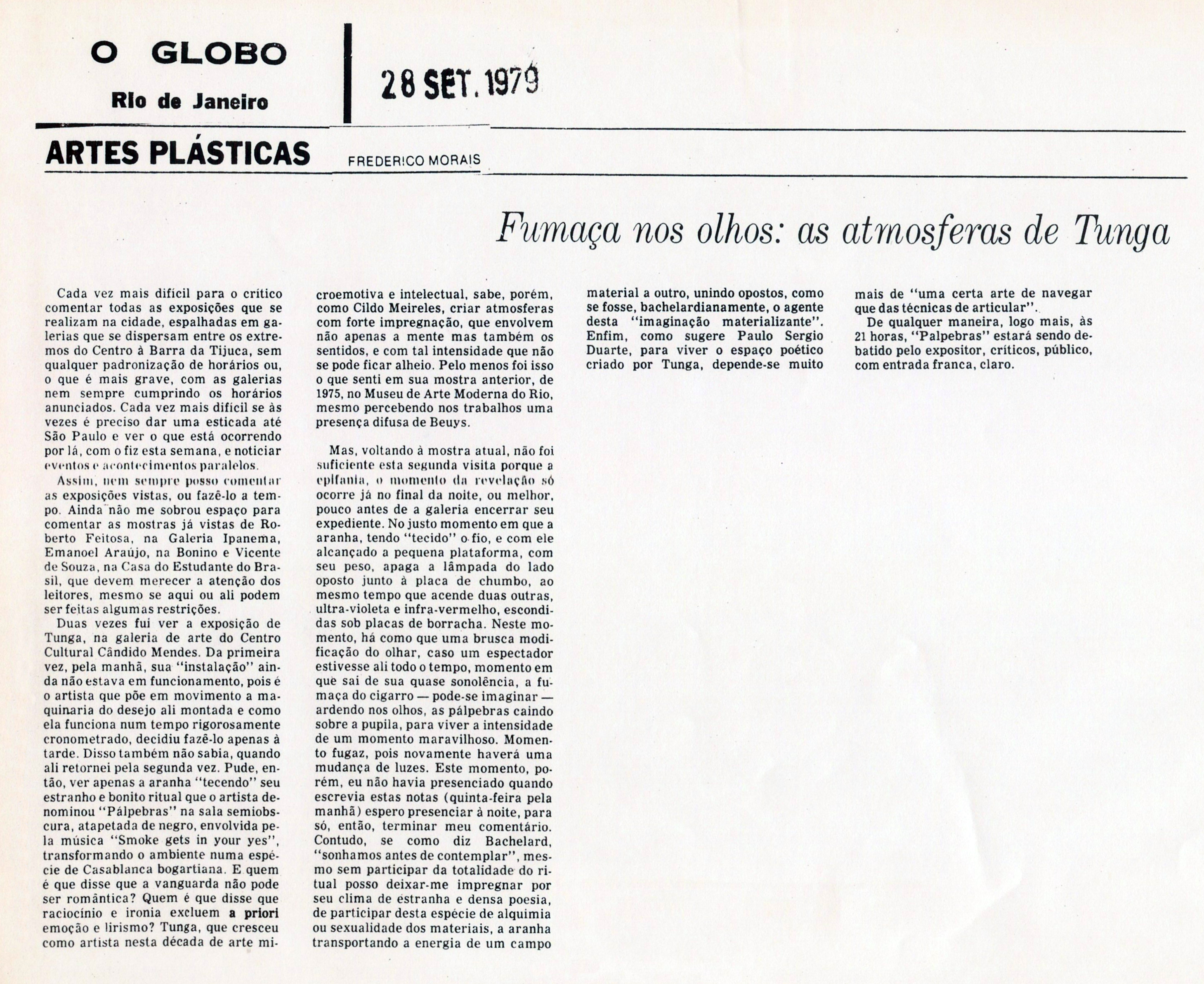 """Pálpebras"" – Centro Cultural Cândido Mendes"