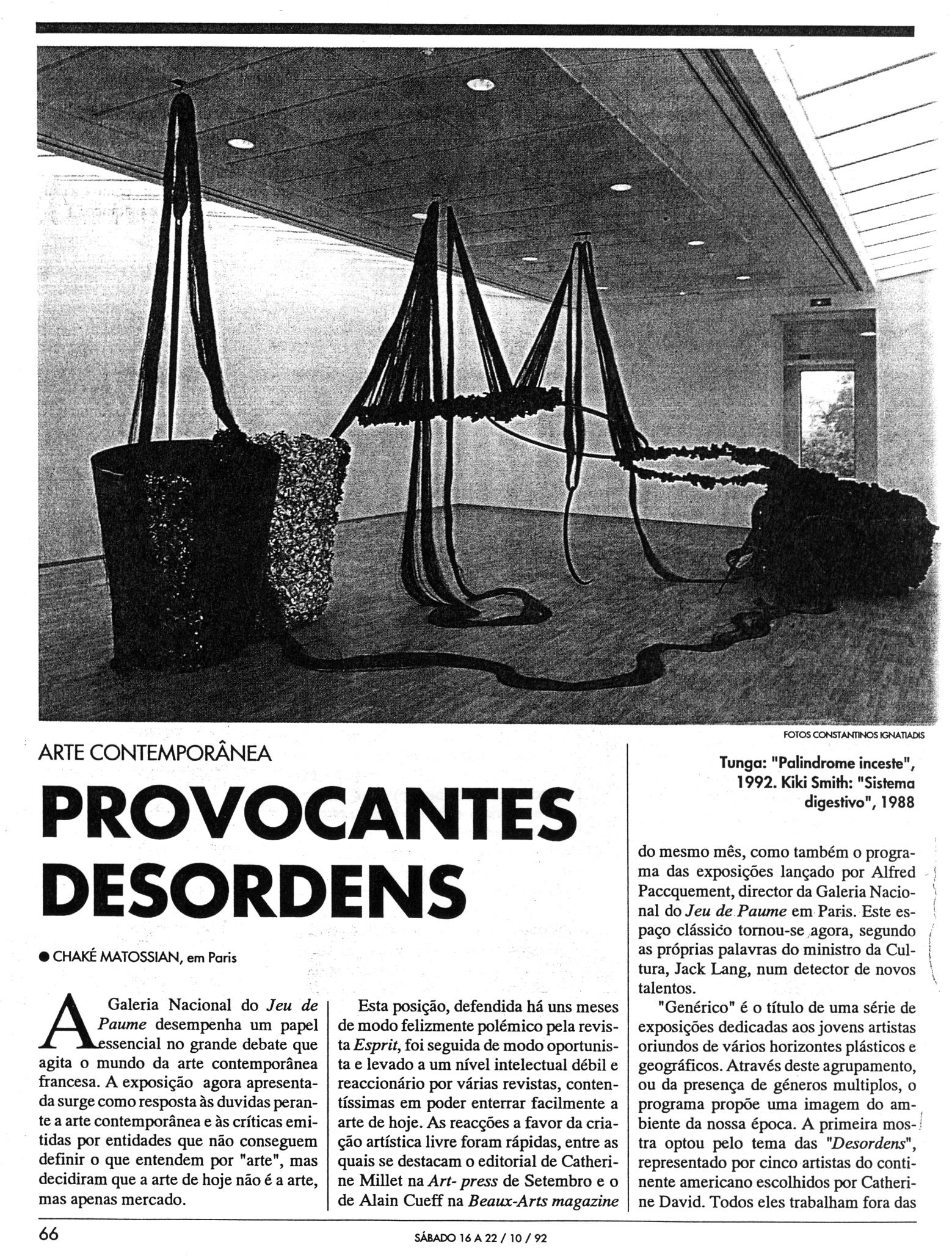 """""""Désordres"""" – Galerie Nationale de Jeu de Paume"""