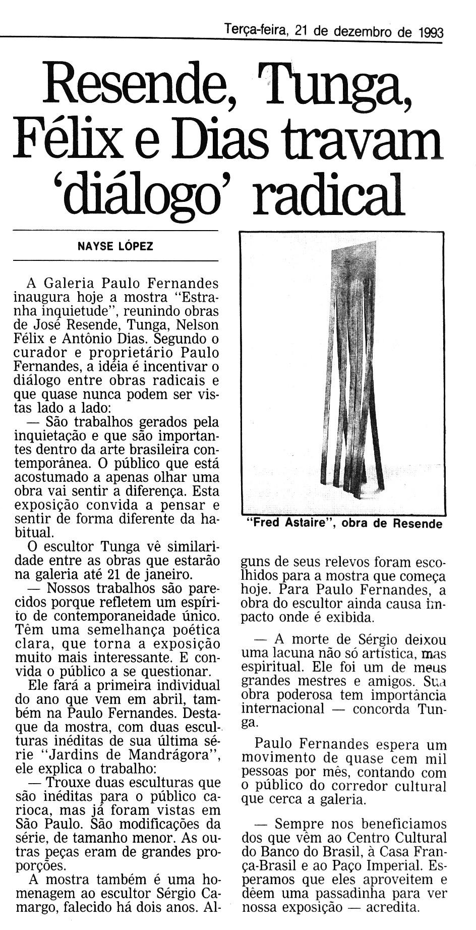 """""""Estranha Inquietude"""", Galeria Paulo Fernandes"""