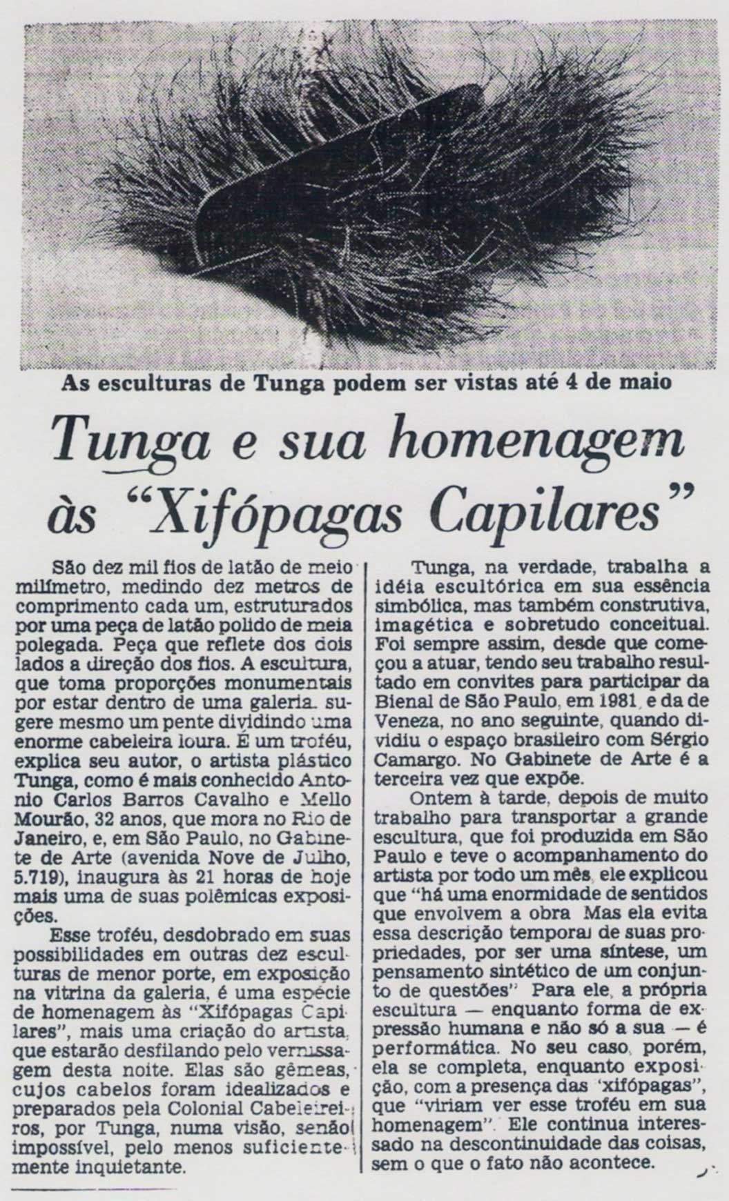 Gabinete de Arte Estado de SP 11 abr 1985