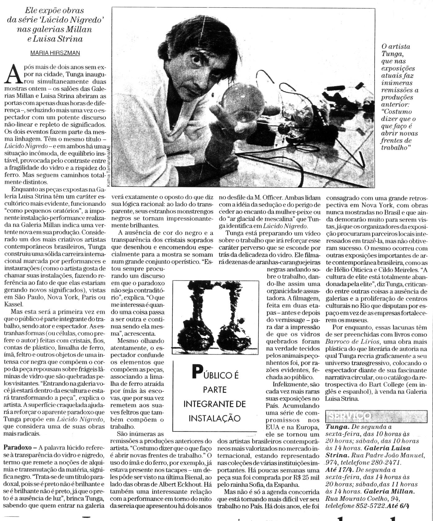 """Lúcido Nigredo"" – Galeria Luisa Strina"