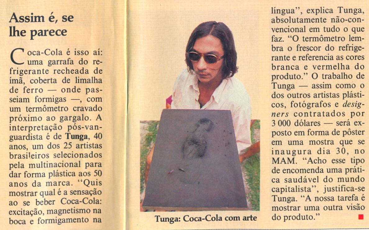 """""""Coca Cola 50 anos com arte"""" – Museu de Arte Moderna"""