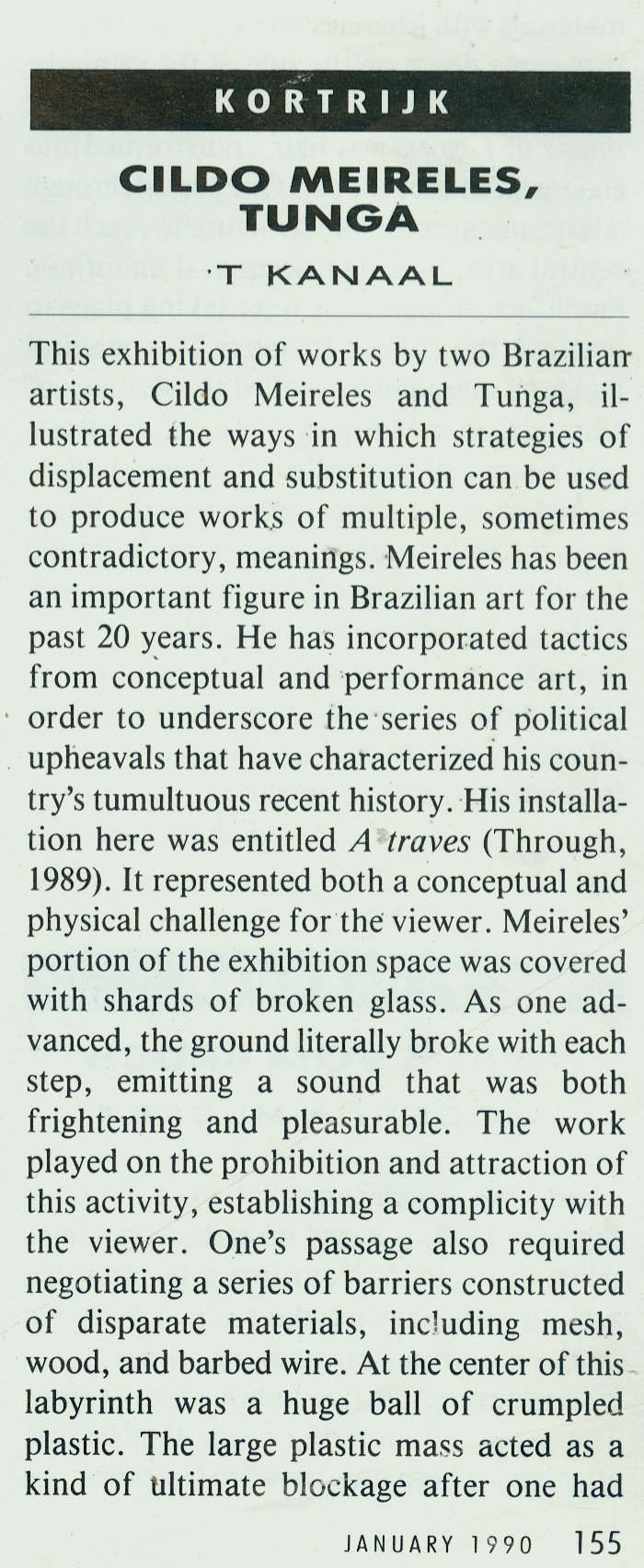 Art Forum – January 1990