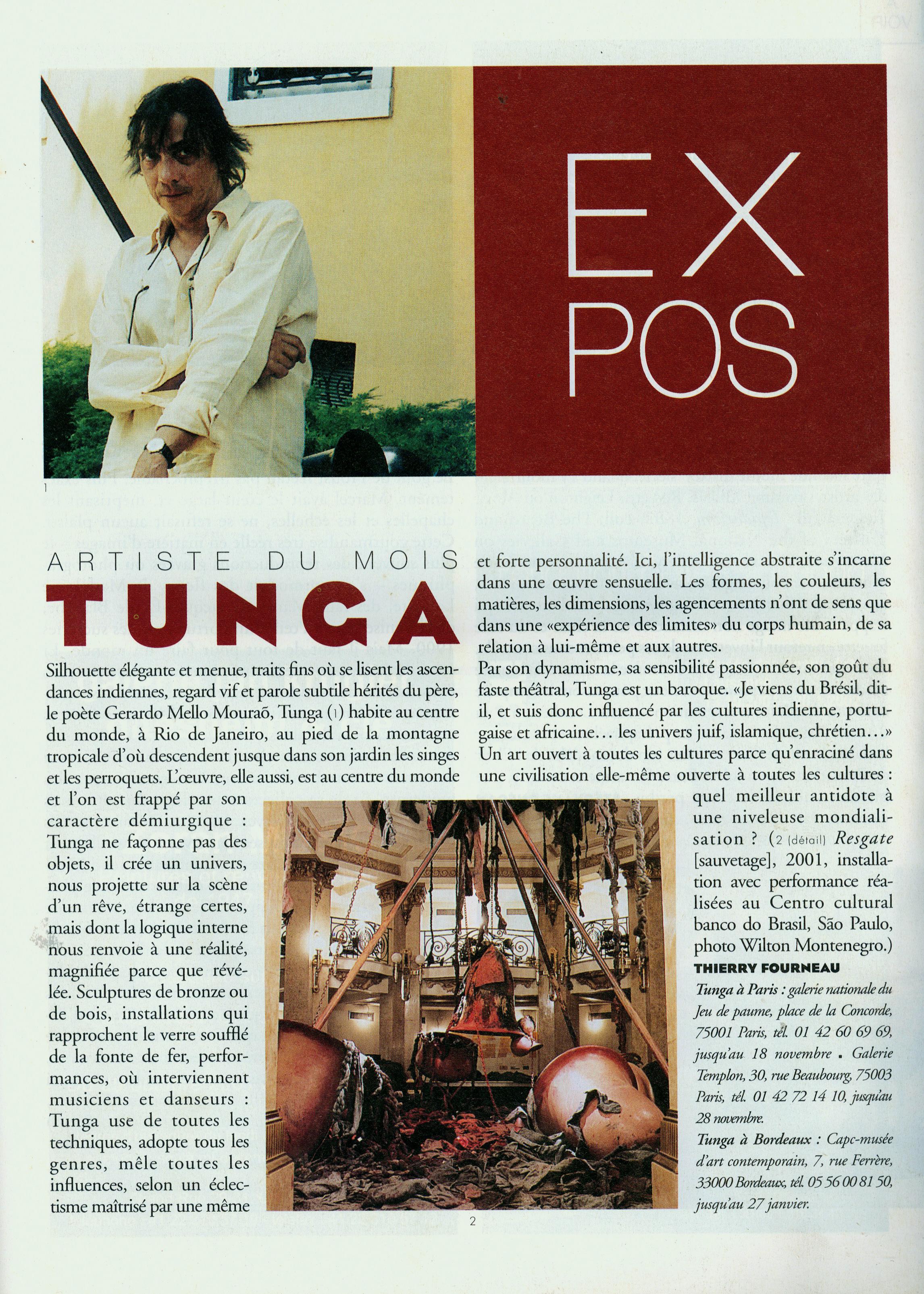 Artiste du mois – Beaux Arts Magazine