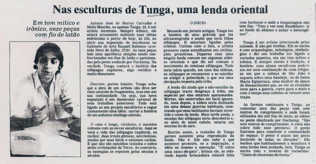 Gabinete de Arte Folha da Tarde 11 abr 1985