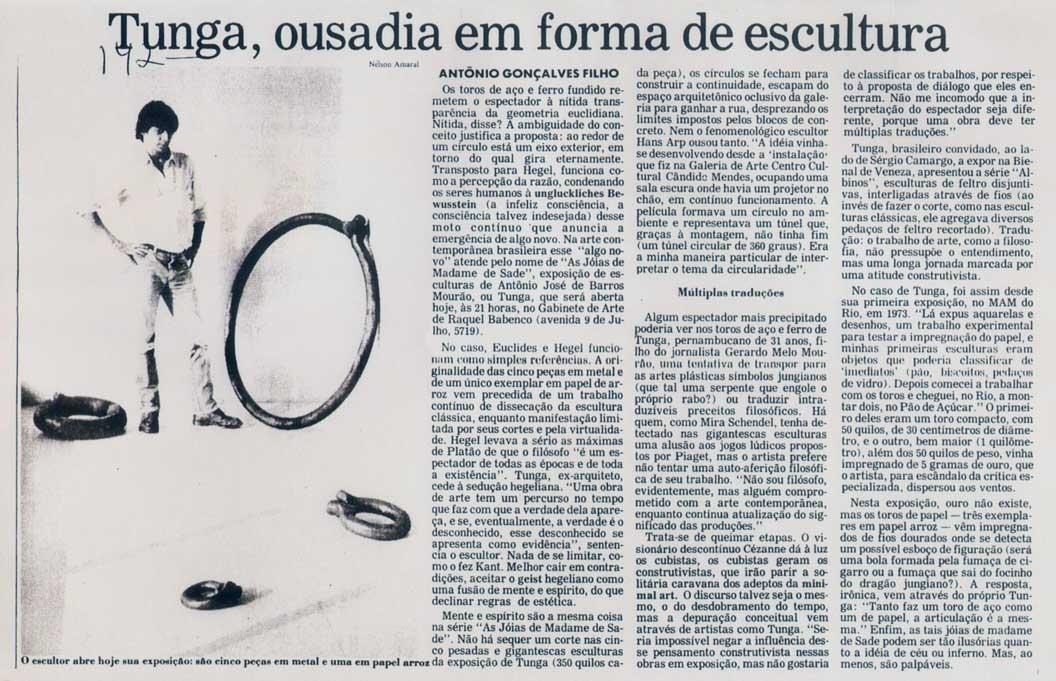 Gabinete de Arte Raquel Babenco Folha de SP 11 jun 1983