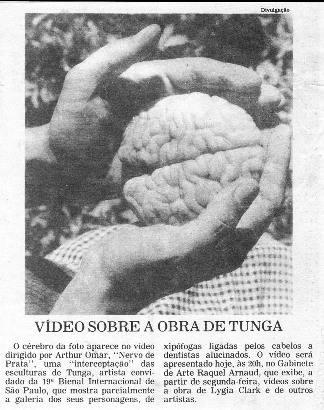 Gabinete Raquel Arnaud Nervo de Prata Folha SP 1 out 1987